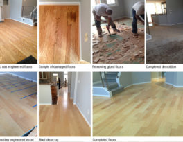 Engineered floor Installation in Falls Church, VA