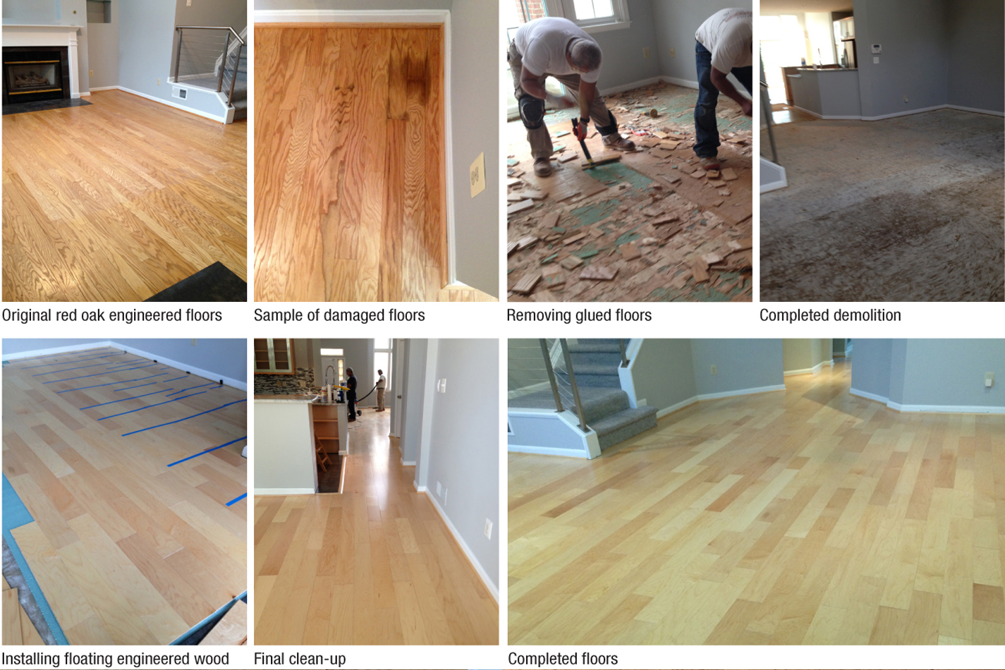 Engineered wood installation Falls Church