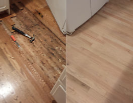 Water-Damaged Hardwood Floor Repairs in McLean, VA